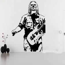 Large Corey Taylor Slipknot Guitar Wall Sticker Kids Room Bedroom Music Super Star Wall Decal Vinyl Home Decor Wall Stickers Aliexpress
