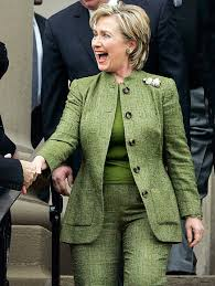 Hillary Clinton's Color Pantsuits   InStyle