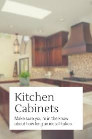 take to install new kitchen cabinets
