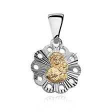 silver 925 pendant gold plated virgin