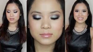 prom makeup black silver smokey eye