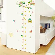 Bibitime Nursery Growth Chart For Kids Room Decor Measuring Ruler Ft Height Chart Wall Decal Classroom Bedroom Living Room Back Door Porch Vinyl Sticker Height Charts