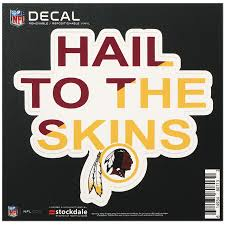 Washington Redskins 6 X 6 Xpression Full Color Repositionable Decal