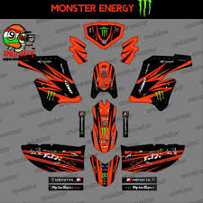 Stiping Klx Modif Custom Sticker In 2020 Custom Decal Stickers Custom Decals Custom Stickers