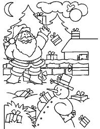 Kleuren Nu Sneeuwpop In De Tuin Kleurplaten