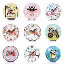 Cartoon Owl Wooden Wall Clocks Decorative Silent Living Room Wall Clock Wall Watches For Kids Bedroom Home Wall Art Decorations Wall Watch Wall Clock Decorclock Decoration Aliexpress