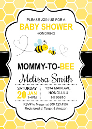 Bumble Bee Baby Shower Invitations Honey Bee Baby Shower