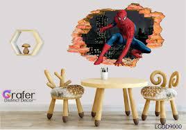 Spider Man Wall Decal Removable 3d Sticker Spider Man Decal Spider Man Kids Room Decal Spider Man Sticker