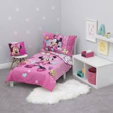 minnie mouse toddler 4pc bedding sets