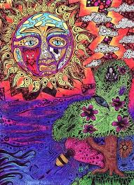 hippie drawing hippie art