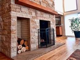 brick fireplace installation