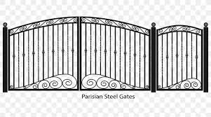 Fence Gate Wrought Iron Png 1960x1090px Fence Black And White Door Gate Home Fencing Download Free