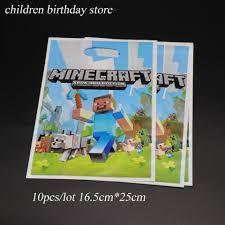 10 Pzas Unids Lote Bolsas De Regalo De Minecraft Decoraciones De