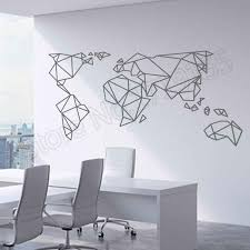 Origami World Map Wall Sticker Home Decoration Art Countries Decals Kids Rooms Accessories Creative Interior Wall Decal Zw134 Wall Stickers Aliexpress