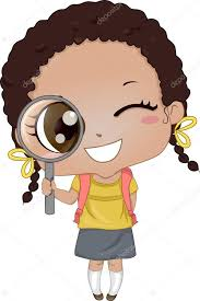 Little Girl holding Magnifying Glass 2 - Stock Photo , #Aff ...