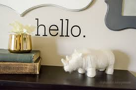 Diy Hello Wall Decal Happy Crafters