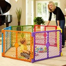 Portable Play Pen 6 Panel Yard Multi Colored Baby Outdoor Gate Safety Fence Pet Northstates Baby Play Yard Play Yard Toddler Play Yard