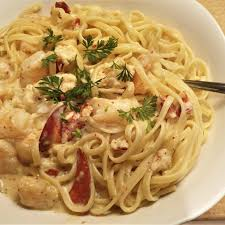 Creamy seafood linguine with shrimp and ...