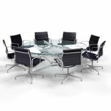 clear round glass table top
