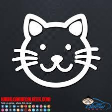 Cute Kitty Cat Car Vinyl Decal Sticker Graphic Cat Decals