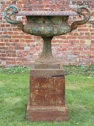 large cast iron planter clical urn
