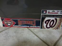 Washington Nationals Static Cling Sticker Decal New Window Or Car Mlb 2 Ebay