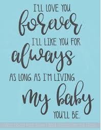 I Ll Love You Forever Vinyl Lettering Decals Nursery Wall Decor Quote