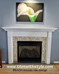 decorative ceramic tile fireplace