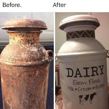 Farm Fresh Dairy Decal For Milk Can Or Other Front Porch Decor Etsy Milk Cans Old Milk Cans Milk Can Decor