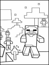 Minecraft Kleurplaat Printen 7