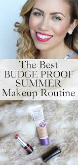 budge proof summer makeup routine