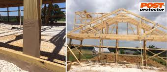 Post Protector Provides Post Decay Rot And Chemical Migration Protection For In Ground Posts Pole Barns Deck Fe With Images Outdoor Structures Pergola Outdoor