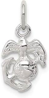 925 sterling silver marine corps emblem
