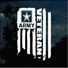 Military Decals Veteran Army Weathered Flag Military Window Decal Stickers Custom Sticker Shop