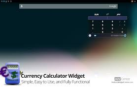 currency calculator widget for android