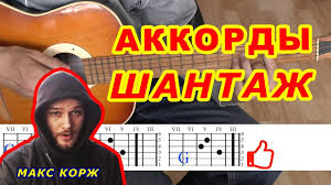 ШАНТАЖ Аккорды ? МАКС КОРЖ ♪ Разбор песни на гитаре ♫ Бой Текст ...