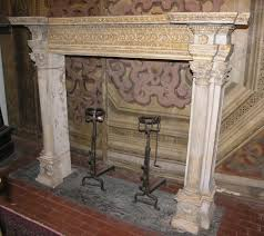 antique stone fireplace mantel for