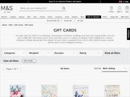 marks spencer gift card balance