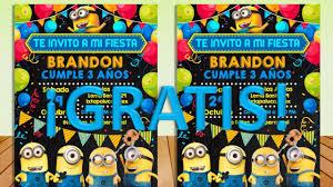 Invitacion Imprimible Minions Gratis Todo Gratis Para Tu