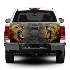 Product Lion Angry Wild Animal King Flag Tailgate Decal Sticker Wrap Pick Up Truck Suv Car
