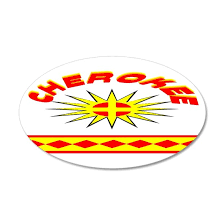Cherokee Indian 20x12 Oval Wall Decal By Nativearts07 Cafepress