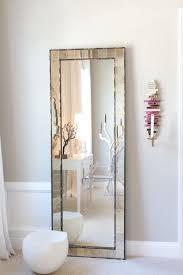 eclectic bedroom floor length mirror