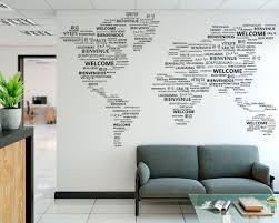 Welcome World Map Wall Sticker Kuarki Lifestyle Solutions