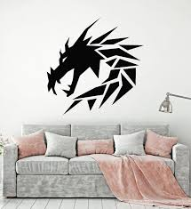 Vinyl Wall Decal Geometric Dragon Mythology Kids Room Stickers Mural Wallstickers4you