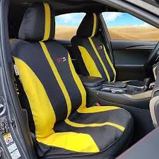9pcs yellow polyester car seat cover