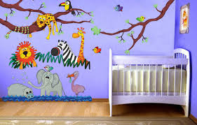 Jungle Decor For Boys Room Beae Safari Bedroom Ideas Atmosphere Animals Girrfe Lion And Elephant Home Decorations The Stage Decorating African Apppie Org