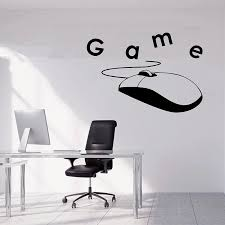 Gamer Sticker Playstation Vinyl Sticker Video Game Wall Decal Game Over Decals Game Boy Room Decor Gamer Gift Removable A11 043 Wall Stickers Aliexpress