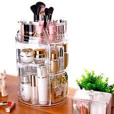 acrylic makeup organizer spin cosmetic