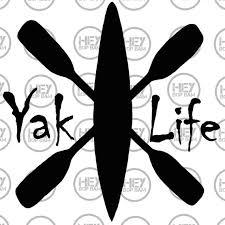 Kayak Kayaker Kayaker Gift Kayak Decal Yak Life Decal Car Etsy