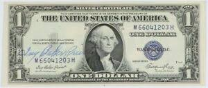 Ivy Baker Priest Courtesy Signature Series 1935E $1 Silver Certificate CU  Unc | eBay